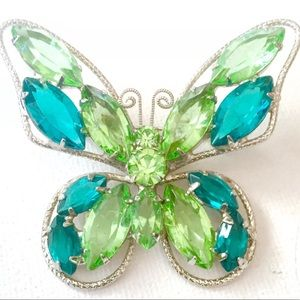 Vintage Juliana D&E Figural Butterfly Brooch Pin